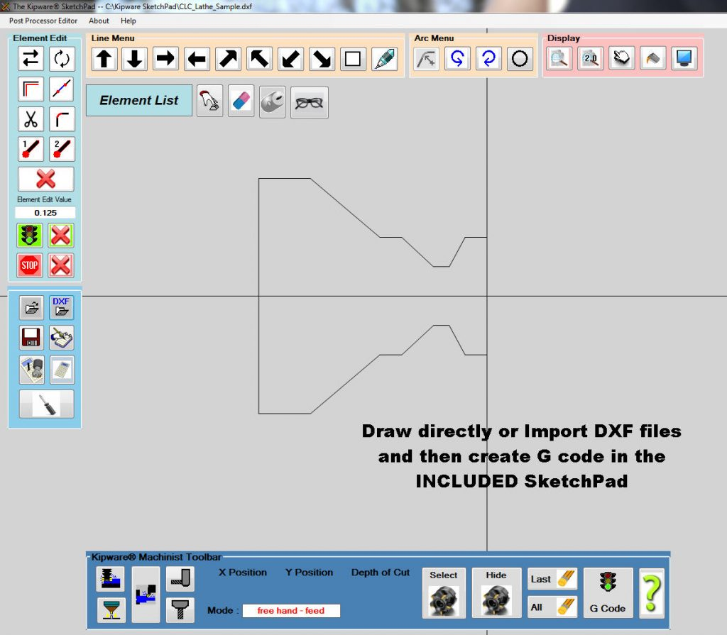 Kipware conversational CAD/CAM software from Kentech Inc..